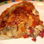 Hartige taart met pastinaak en salami; recept; recepten; hoofdgerecht; hoofdgerechten; hartige taart; quiche; pastinaak; salami; champignons