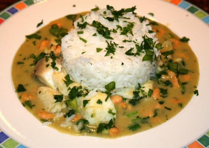 Thaise groene curry met tilapia en garnalen; recept; recepten; hoofdgerecht; hoofdgerechten; thais; tilapia; tilapiafilet; garnaal; garnalen; curry; groene curry; thaise groene curry; kokosmelk