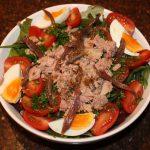 Salade niçoise met tonijn