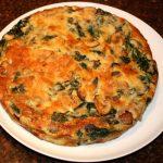 Frittata met spinazie en champignons uit de oven