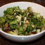 Maaltijdsalade met aubergine en pecorino