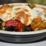 Ovenschotel met aubergine en tomaat