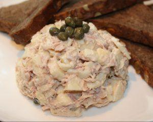 Tonijnsalade met appels en kappertjes; recept; recepten; lunch; tonijn; appel; kappertjes; salade