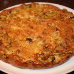 Frittata uit de oven met prei en spek