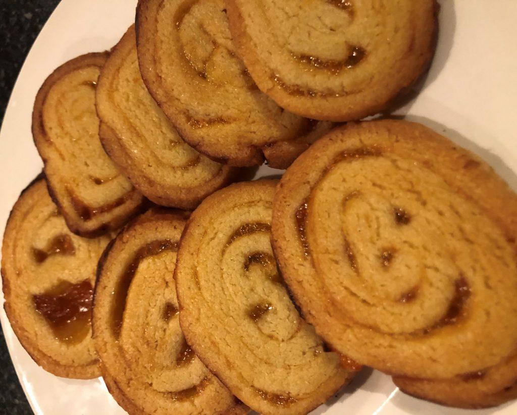 Abrikozen swirl koekjes; recept; recepten; koek; koekje; abrikoos; abrikozen; abrikozenjam; zoet
