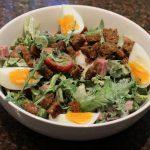 Maaltijdsalade met asperges en ham