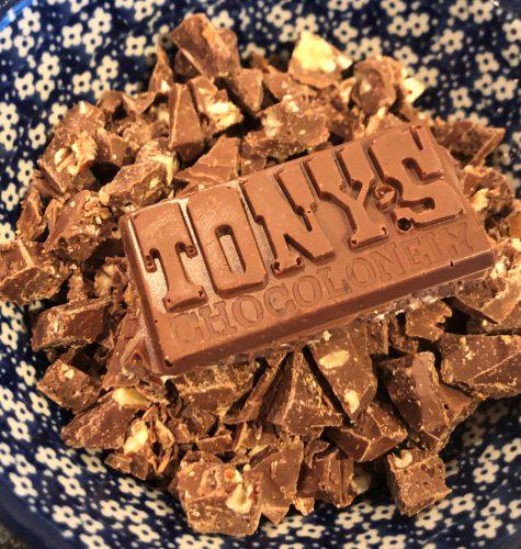Tony's Chocolonely Melk crunch pecan karamel