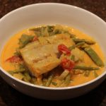 Thaise curry met kabeljauw